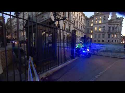 PM Theresa May leaves Downing Street and arrives at Parliament