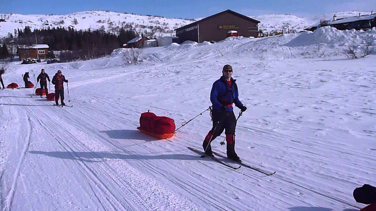 first ski with pulks