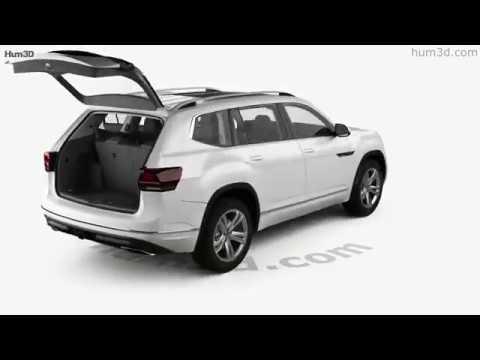 Volkswagen Atlas R Line with HQ interior 2017 3D model by Hum3D.com