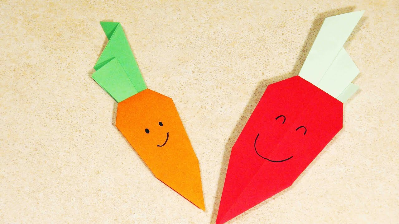 PAPER CRAFTS FOR KIDS Easy origami for kids ORIGAMI CARROT ... - photo#2