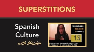 Learn Spanish - about Spanish superstitions (Spanish subtitles)