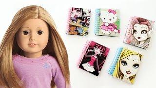 Video DIY | AMERICAN GIRL Bebek icin Defterler Nasıl Yapılır? | Kendin Yap download MP3, 3GP, MP4, WEBM, AVI, FLV November 2017