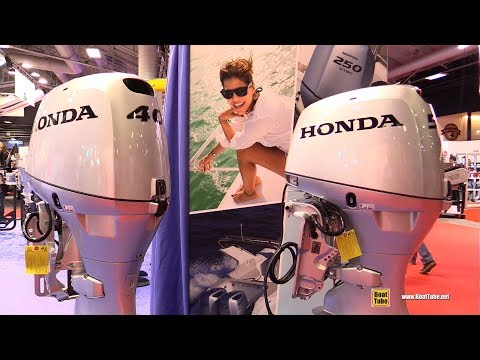 2017 Honda 40hp and 50hp Outboard Engines - Walkaround - 2016 Salon Nautique Paris