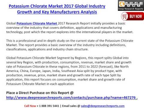 Potassium Chlorate Market Global Development Trends and 2017-2022 Future Outlook