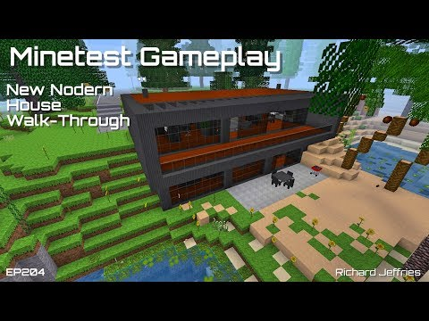 Minetest Gameplay EP204 Completed Modern House Walk-Through