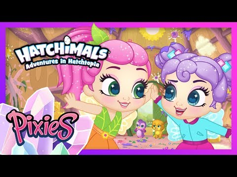 Dance-a-thon Disaster Part 2! Pixie Clean-up! Adventures In Hatchtopia: Pixies! Hatchimals Cartoons