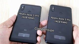 Xiaomi Redmi Note 5 Pro 6GB RAM Unboxing !! Comparision Note 5 Pro 4GB Vs 6GB RAM Variante !! HINDI