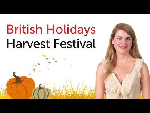 British English Holidays - Harvest Festival