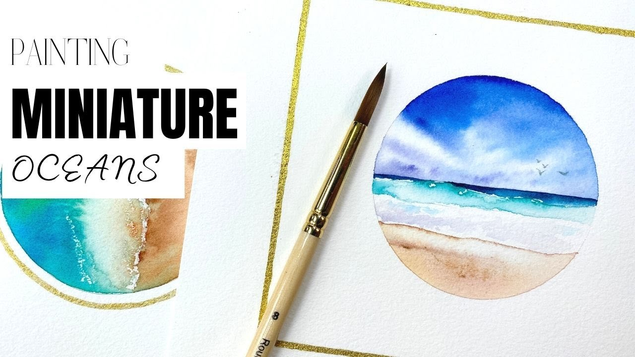 Painting miniature seascapes in watercolors