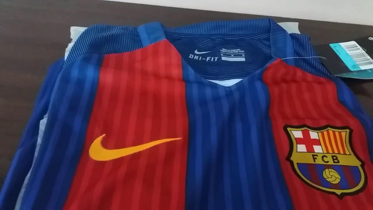 Camisa Barcelona 16 17 diretamente da China - YouTube 10d3a86e93e6c
