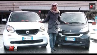 NEW SMART FORTWO 2015 VS SMART FORTWO 2012 - TEST URBAN FIGTHERS