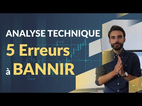 ANALYSE TECHNIQUE BOURSE : 5 erreurs à BANNIR !