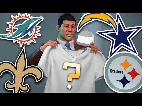 WHICH NFL TEAM DRAFTS US? NFL DRAFT DAY & COMBINE!Madden 20 Face of the Franchise Ep.3