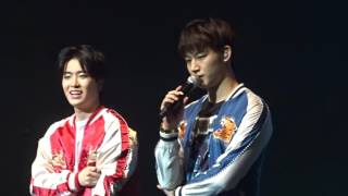 160711 Got7 Fly in LA Day1- JB & Youngjae Talk about 1:31