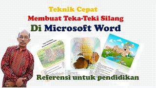 Membuat Teka Teki Silang dengan Microsoft Word
