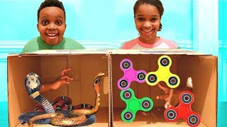 What's In The BOX CHALLENGE!! - Shiloh and Shasha - Onyx Kids