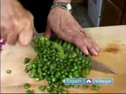 Traditional Italian Recipes : Cutting Asparagus For a Traditional Italian Arugula Salad