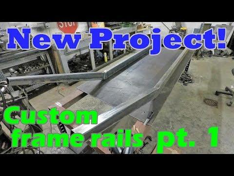Building Custom Frame Rails | Boat-tail Speedster Pt  1 - YouTube