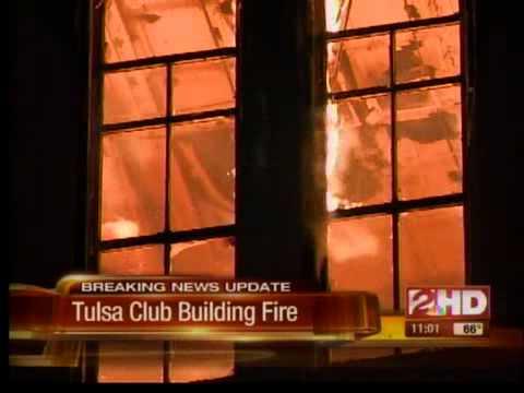 Fire burns historic Tulsa Club Building