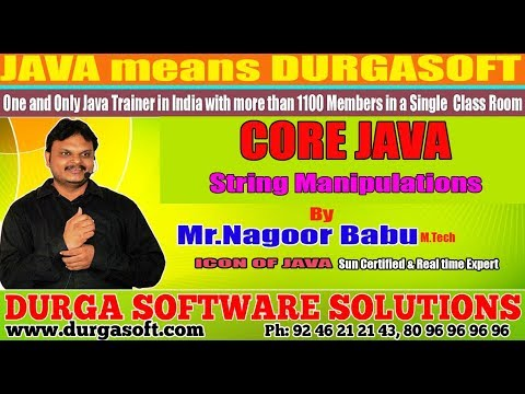 Core Java || String Manipulations || by Nagoor Babu Sir