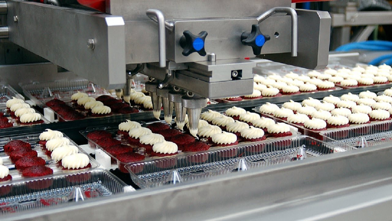 Extreme Fast Cake Production Process, Modern Food Processing Machines  Inside Factory
