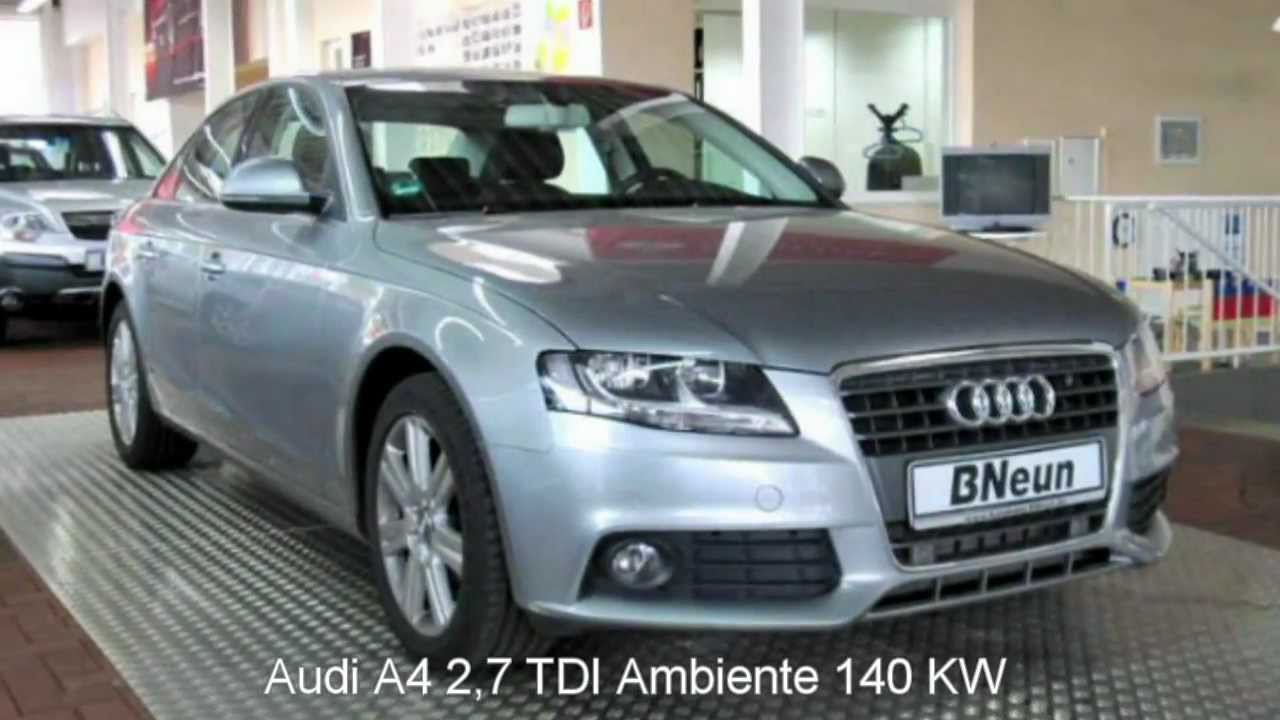 audi a4 2 7 tdi dpf multitronic ambiente 2008 quarzgrau metallic 34275. Black Bedroom Furniture Sets. Home Design Ideas