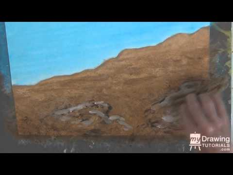 Acrylic Painting Tutorial - Painting Desert Landscape & Rocks In Acrylic