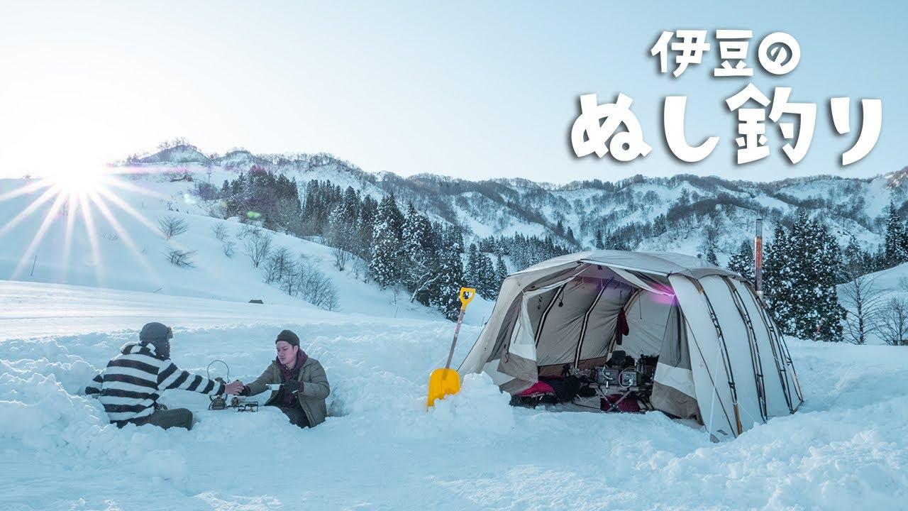 3m積もった雪上で穴掘りキャンプ【2日目】