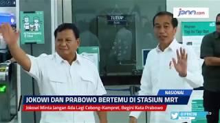 Jokowi Minta Jangan Ada Lagi Cebong-Kampret, Begini Kata Prabowo