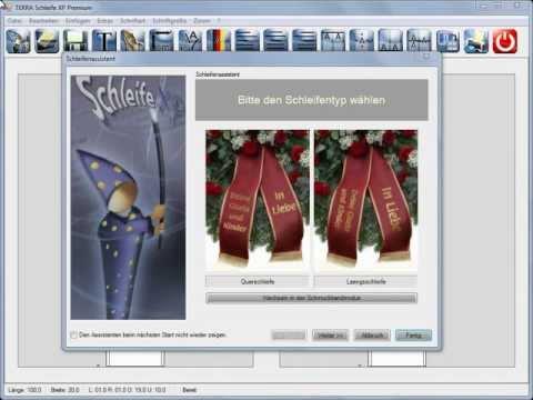 Goldeffektdruck mit TERRA-Data Schleife XP