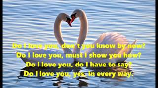 Do I love you (yes in every way) - karaoke lyrics no vocal