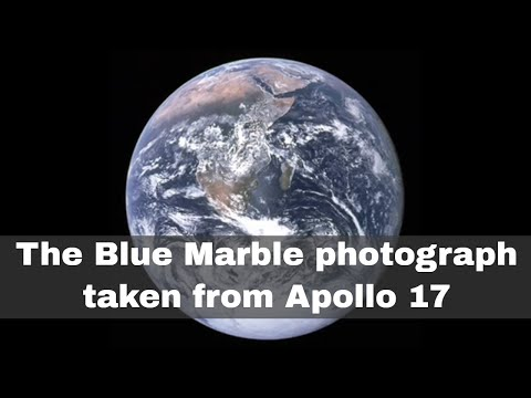 7th December 1972: The Blue Marble photograph taken of the whole Earth