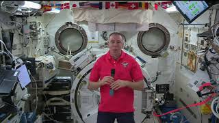 Space Station Commander Feustel talks with Sky Sports - August 28, 2018
