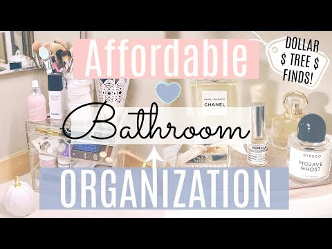 Cheap Bathroom Organization Ideas! Dollar Tree Organization/Clean with me/ Radiate Lifestyle
