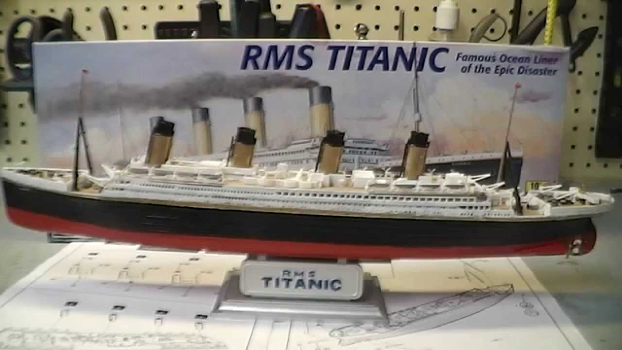 RMS Titanic Scale Model Build and Paint - YouTube