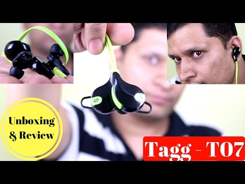 Sports In-Ear Blue-tooth Headset Review Tagg - T07   Sharmaji Technical