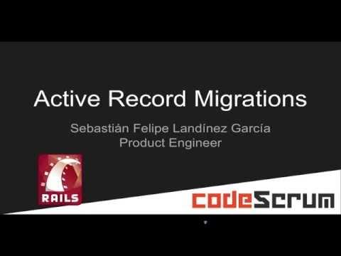 Rails - ActiveRecord Migrations 01