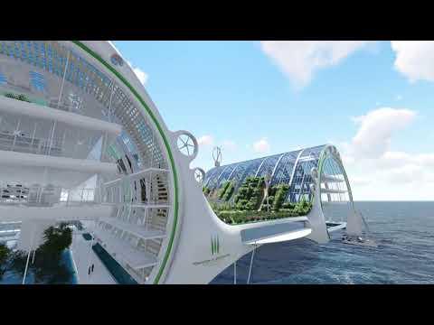 H2o (Humanitarian Harbour of the Ocean) - A humanitarian floating farm