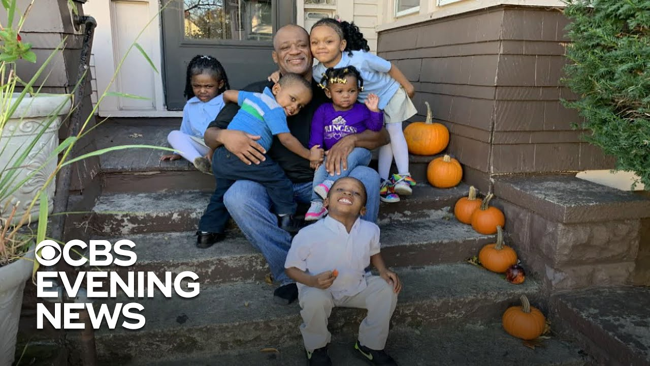 The Single dad  who adopts 5 siblings so they can stay together