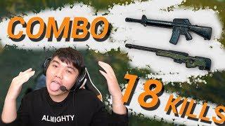 COMBO M16A4 VÀ AWM CÀNG QUÉT SOLO SQUAD 18 KILLS - Daily PUBG Moment #22