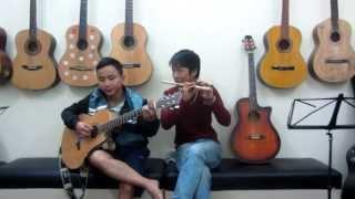 Biển tình - Sáo trúc Mão Mèo & Guitar Văn Anh