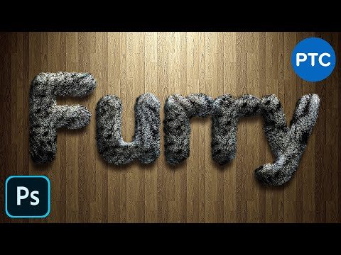 Realistic FURRY Text Effect in Photoshop - Fur Text Effect Photoshop Tutorial