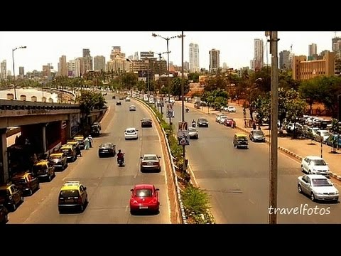 mumbai road traffic at marine drive queen's necklace / tour tourist places in india