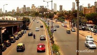 mumbai road traffic at marine drive queen