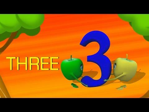 Numbers   Number 3  Nursery Rhymes  Original  By Rhymes Bus