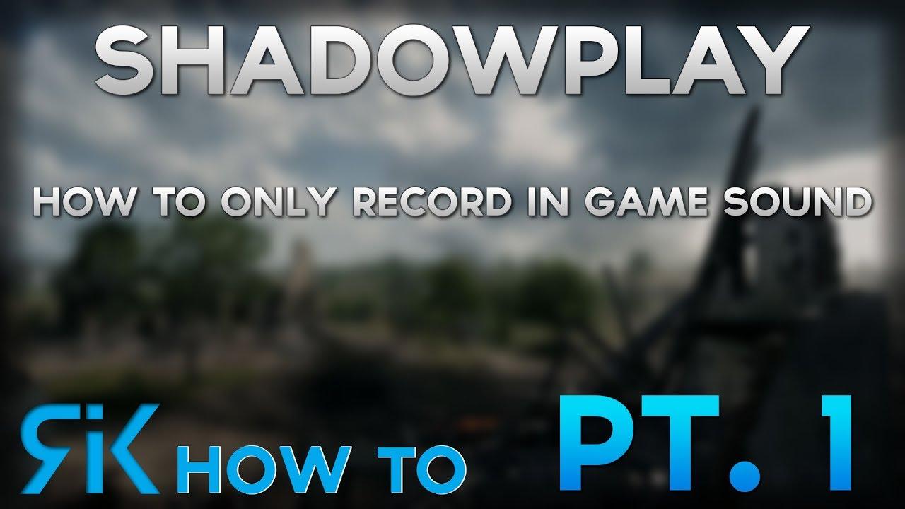 shadowplay recording discord