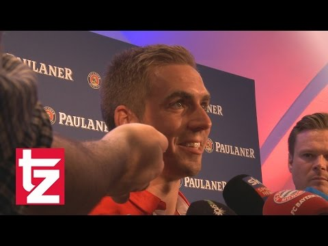 """Bayern-Kapitän Philipp Lahm: """"Ich freue mich auf das letzte Spiel."""""""