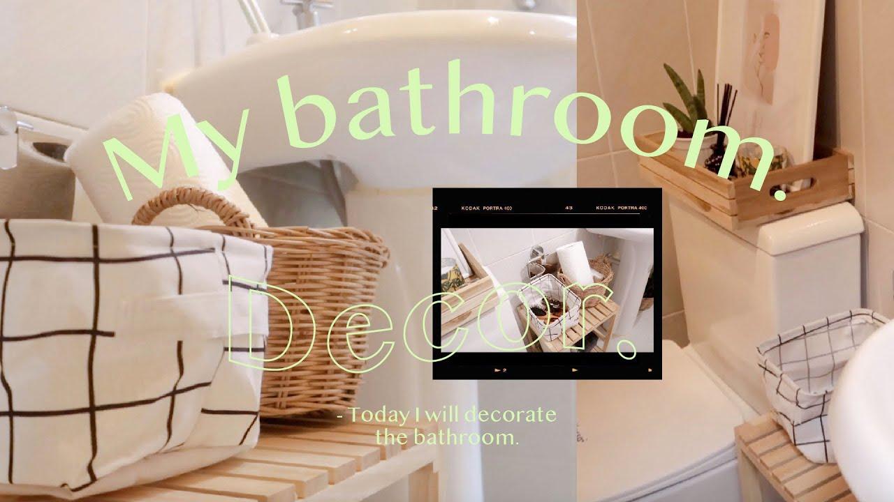 Bathroom Decor แต่งห้องน้ำเล็กๆ ให้น่าใช้ สไตล์มินิมอล + ชี้เป้าของถูก I My name is Sabai♡︎
