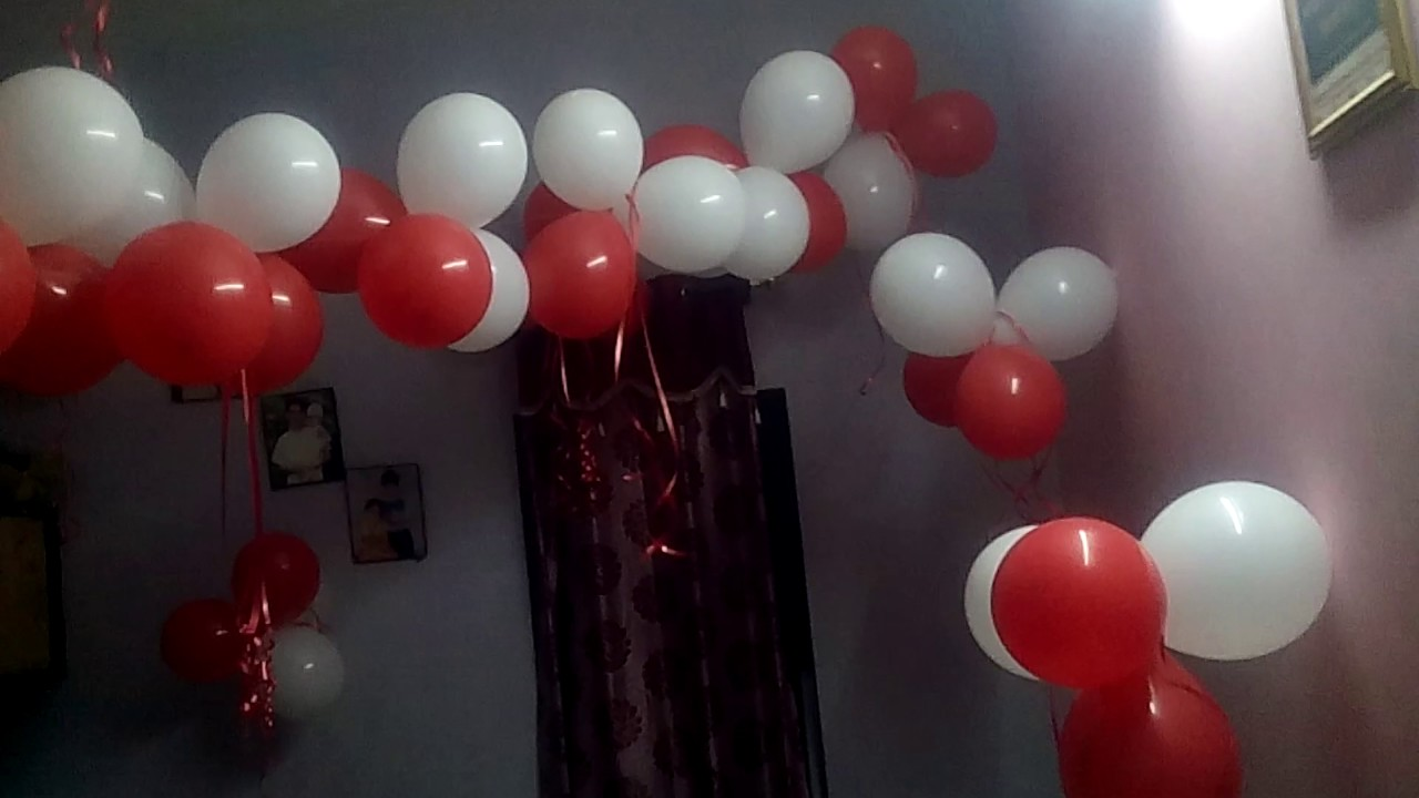 Birthday room decoration YouTube