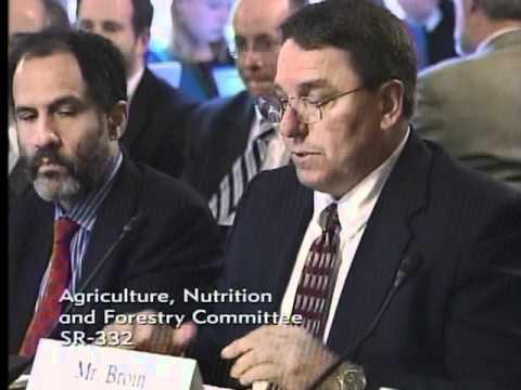 Stanley Townsend Testifies at Senate Ag Committee Hearing